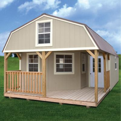 Painted Deluxe Lofted Barn Cabin