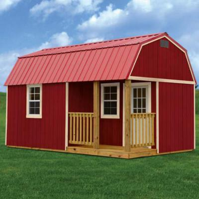RTO Painted Side Lofted Barn Cabin